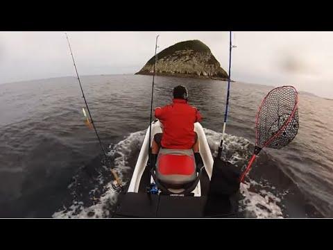 Jetski Fishing New Zealand Kingfish At Channel Island Hauraki Gulf Gopro
