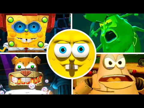 SpongeBob Battle for Bikini Bottom Rehydrated All Bosses | No Damage (PS4)