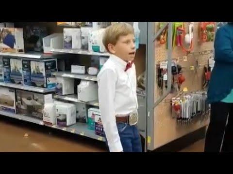 10-Year-Old Yodels Inside Walmart