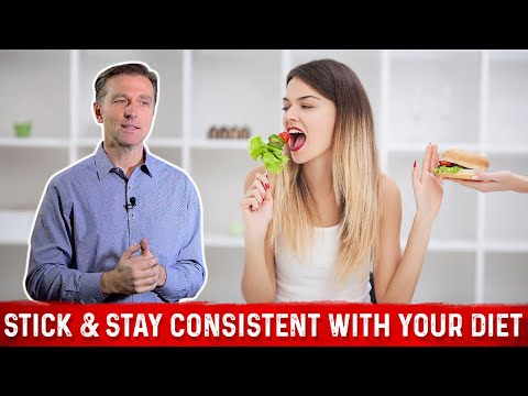 How To Stick To Diet & Stay Consistent With Healthy Eating? : Dr.Berg