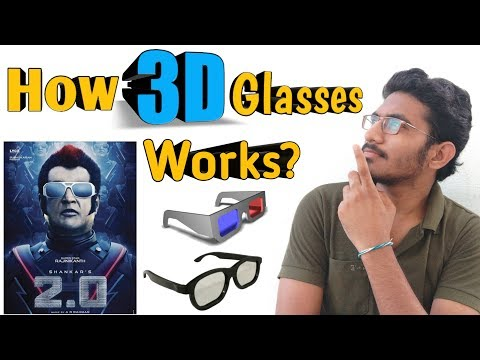 How Do 3D Glasses Work ? Types Of 3D Glasses | Explanation Of 3D Glasses Working  | In Telugu |