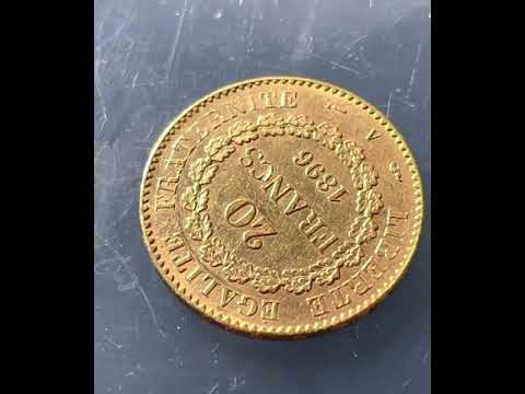20 Francs France 1896 - Gold Münze