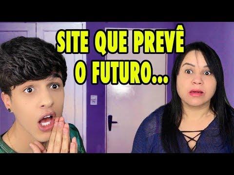 TROLLEI MINHA MÃE COM UM SITE QUE PREVÊ O FUTURO...