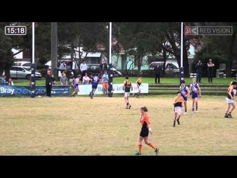SMJFL 2014 U15 DIV 1 - East Malvern Blue v Hampton Rovers