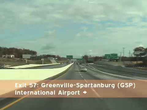 I-85 North: Greenville to Spartanburg SC