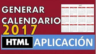 Html Calendario.Calendario Html Youtube