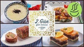 Ramazan 2. Gün İftar Menüsü: Yoğurt Çorbası - Rulo Köfte - Fırında Ispanak - İrmik  Tatlısı