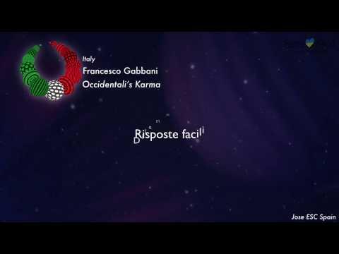 Francesco Gabbani - Occidentali's Karma (Italy) [Karaoke Version]