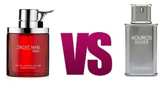 Yves Saint Laurent Kouros Silver vs Yacht Man Red