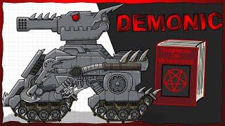 """Gambar cover """"Iron Demonic"""" Cartoons about tanks"""