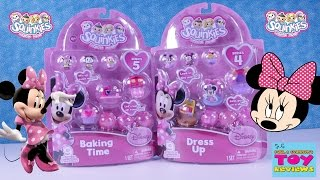Disney Squinkies Minnie Mouse Dress Up Baking Time Opening Review | PSToyReviews