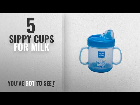 Top 10 Sippy Cups For Milk [2018]: Mee Mee No Spill Sipper Cup With Double Handle, Blue