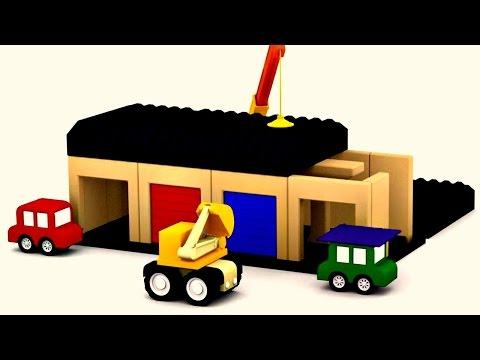 apprendre les couleurs avec les 4 voitures color es construction d 39 un train by dessin anim en. Black Bedroom Furniture Sets. Home Design Ideas