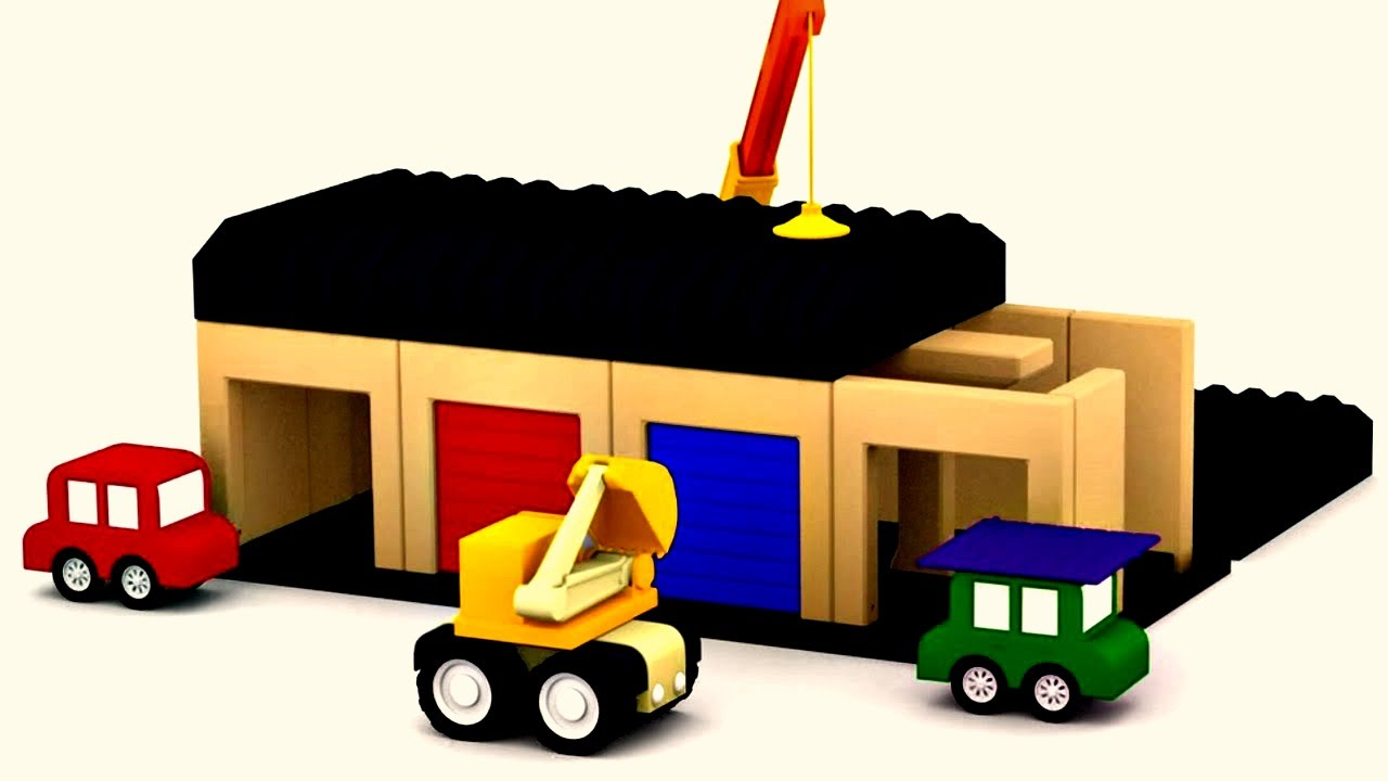 Dessin anim ducatif pour enfants de 4 voitures construction de garage youtube - Dessin garage ...