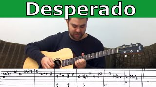 Fingerstyle Tutorial: Desperado - Instrumental Guitar Lesson w/ TAB
