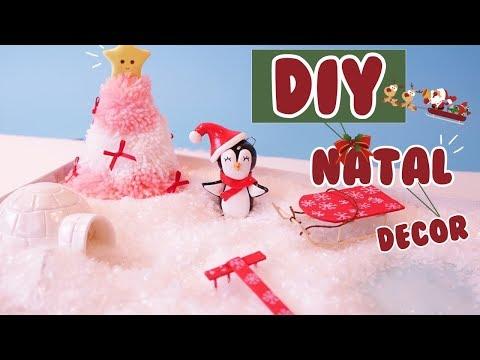 DIY NATAL - Decoração DE NATAL JARDIM ZEN - DIY MINI WINTER ZEN GARDEN