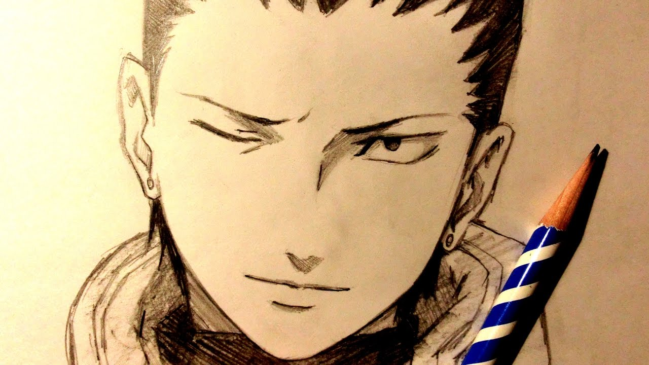 ASMR | Pencil Drawing 68 | Shikamaru (Request) - YouTube