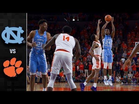 North Carolina vs. Clemson Basketball Highlights (2017-18)