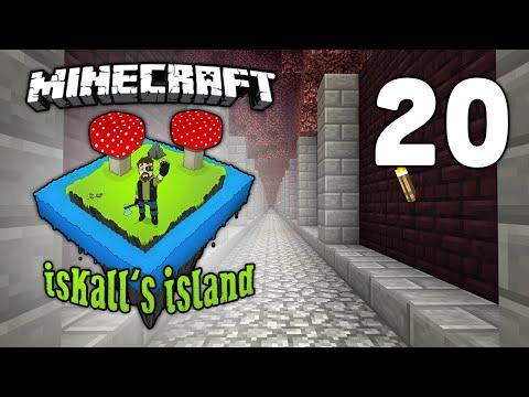 Iskall's Island - Vanilla Minecraft Lets Play - 20 - Nether Minecarts - Item Transportation