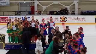Эдельвейс - награждение за 3 место в Финале Кубка России по синхронному катанию, 29.04.2018