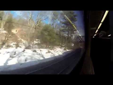 Passenger Eye View Railroad Leominster to Boston USA