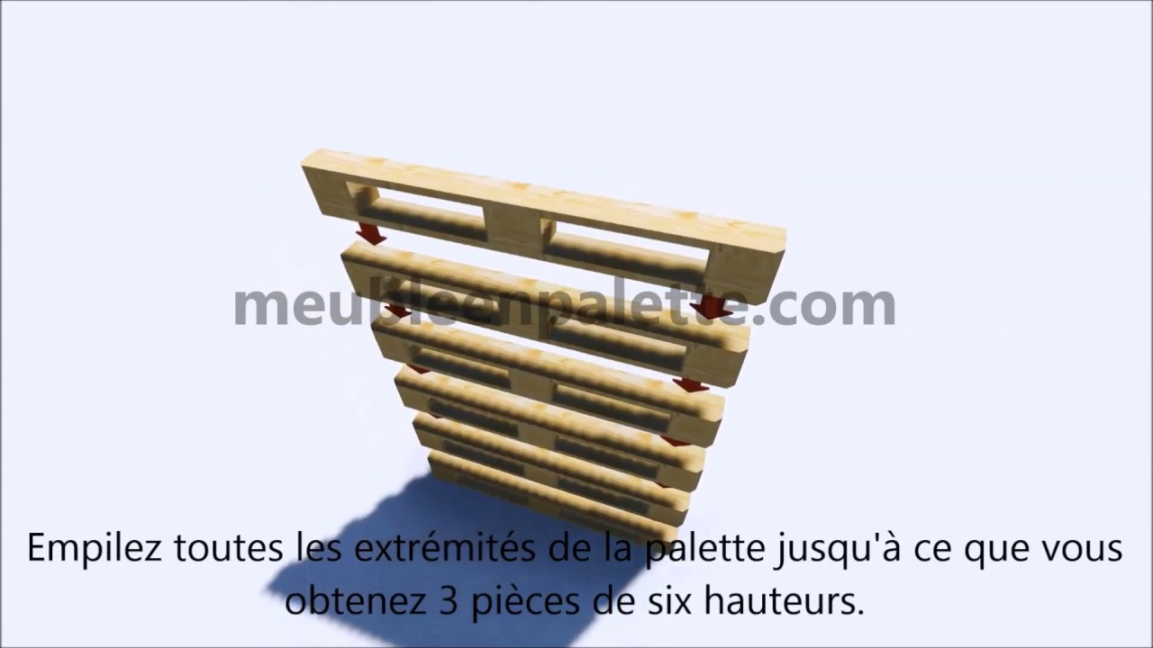 instructions sur la fa on de faire un bureau avec des europalettes youtube. Black Bedroom Furniture Sets. Home Design Ideas
