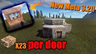 RUST Building 3.2 NEW DOOR META Starter Base | Hidden Tc | Better than armored doors | Starter Base!