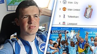 Reacting to my premier league table predictions *embarrassing*