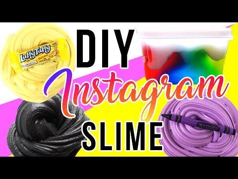 DIY Instagram Slime Tested! Laffy Taffy Slime, Rainbow Avalanche Slime, Crayon Slime!!!