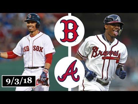 Boston Red Sox vs Atlanta Braves Highlights || September 3, 2018