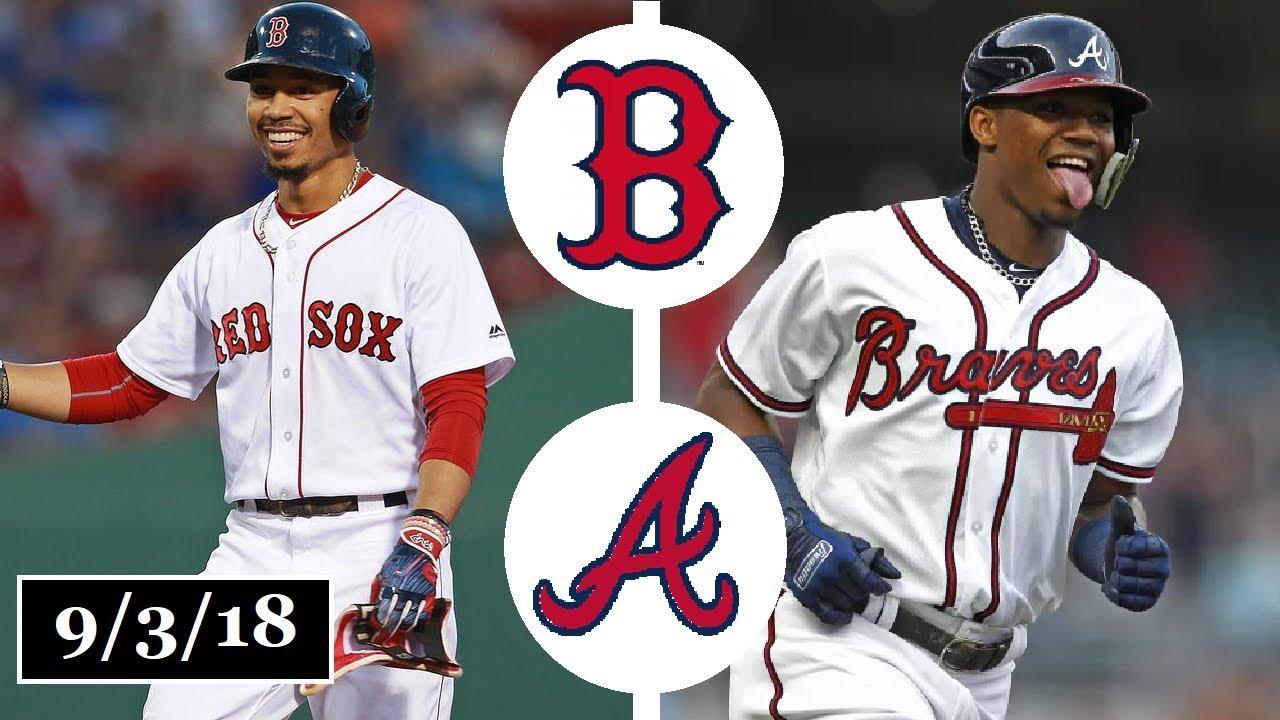 online retailer 6b8d2 dd38e Boston Red Sox vs Atlanta Braves Highlights || September 3, 2018