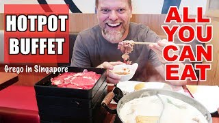 $10 All You Can Eat Hot Pot Buffet Singapore! Shabu Shabu and Sukiyaki