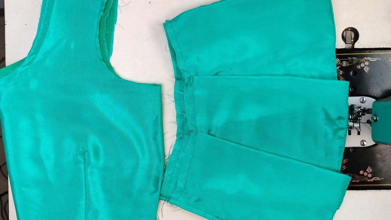 ब्यूटीफुल झालर ब्लाउज डिजाइन / Beautiful Frill Blouse Design /  Part 2 Stitching