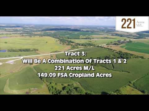 Upcoming Madison County Land Auction - 221 Acres M/L In 3 Tr