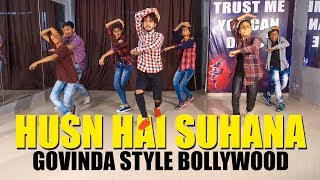 Video Husn hai suhana | Govinda Style Bollywood Dance | Vicky Patel Choreography download MP3, 3GP, MP4, WEBM, AVI, FLV Juli 2018