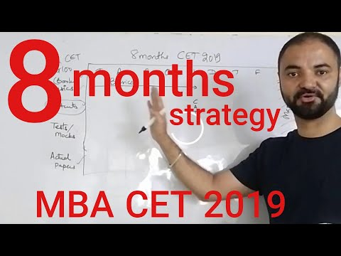 8 months to MBA CET. Strategy planning target JBIMS