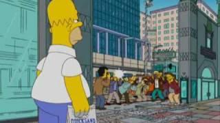 Homer Kill Celebrities - George Clooney -