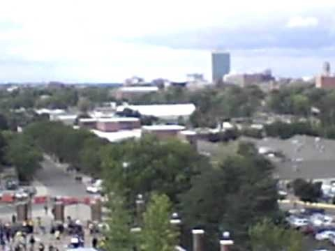 Michigan Stadium: a view from the top row