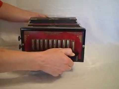 Vintage Eagle Brand Accordian Squeeze Box