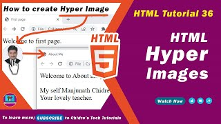 Gambar cover HTML video tutorial - 36 - html image as hyper link