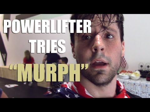 "Powerlifter Tries Crossfit ""Murph"" WOD"