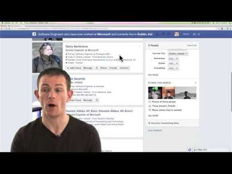 How to recruit using Facebook Open Graph Search