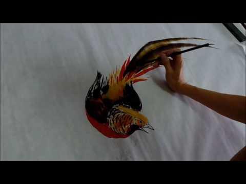 20160827陳永浩YUNG HAO CHEN老師授課 Ink and color PAINTING 畫金雞 painted rooster