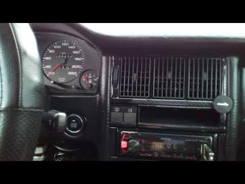Кнопка запуска двигателя в ауди 80.