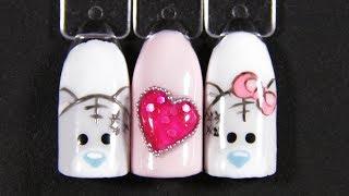 "Дизайн ногтей ""Мишки Тедди"" 🐻 рисунки на ногтях 💅  Teddy bears"