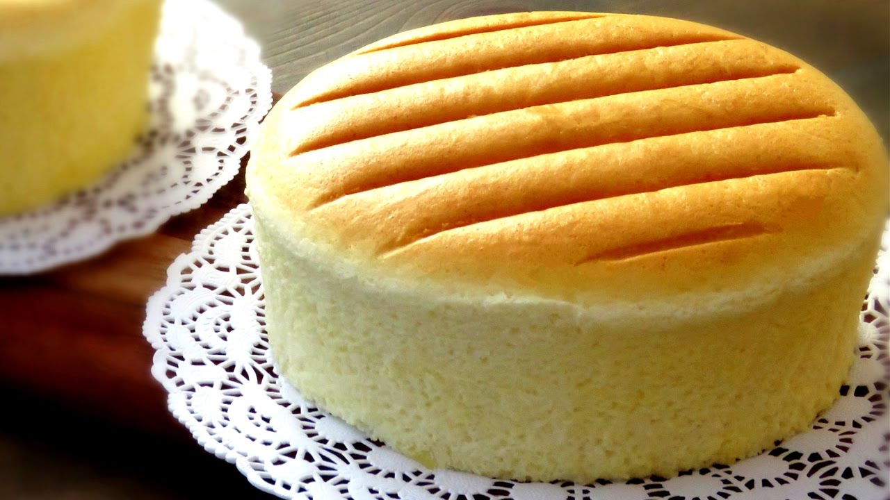 How To Steam Bake Sponge Cake Castella Recipe 原味古早味蛋糕做法
