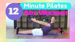 12 Minute Pilates Abs Workout w/ Beauty and The Fit - Pilates Core Exercises Workout