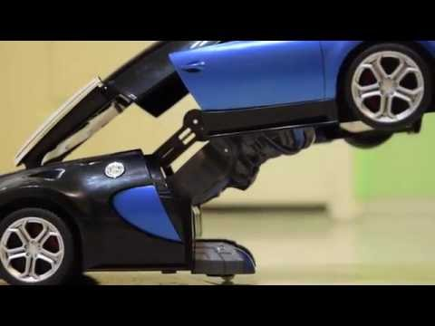 Remote Control Bugatti Transformer Car Toy Youtube