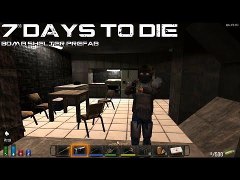 Bomb Shelter Prefab 7 Days To Die Alpha 12 YouTube