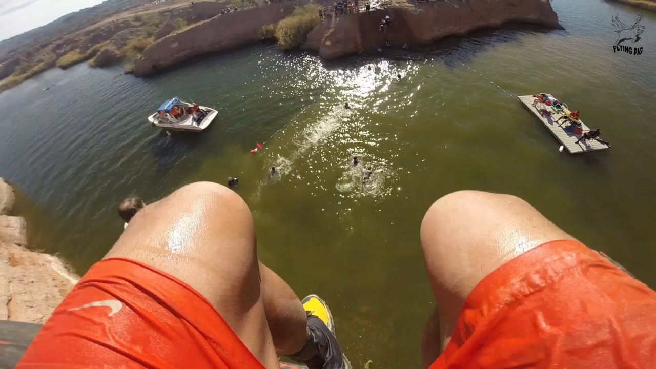 b390421cb64 World s Toughest Mudder 2014 - my drop off The Cliff. Flying Pig